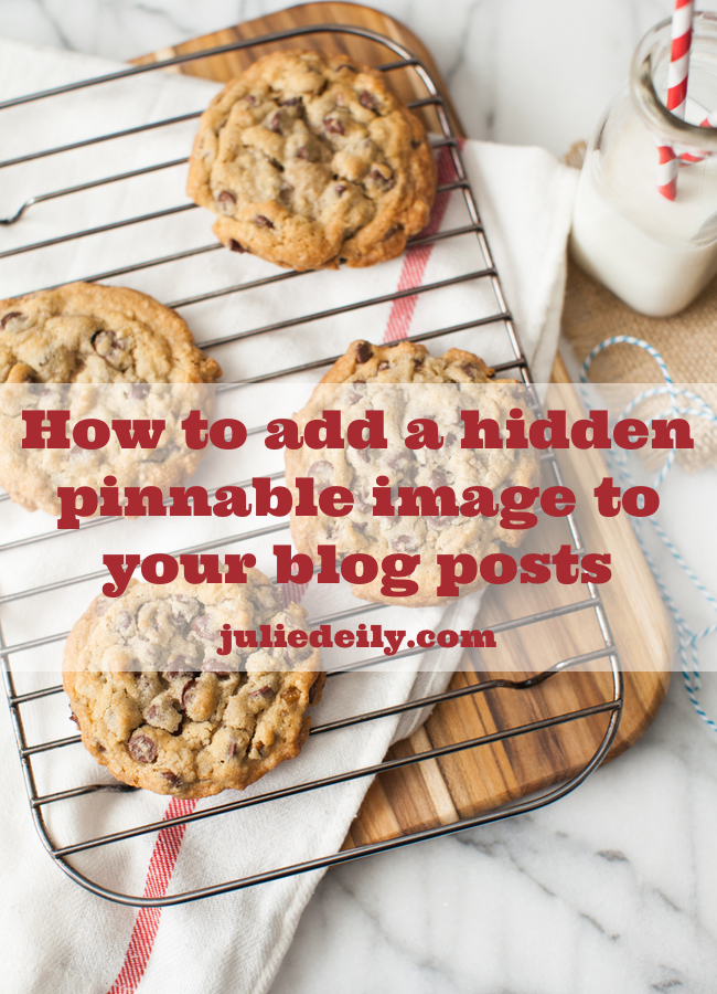 How to add a hidden pinnable image to blog posts