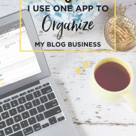 I use one app to organize my blog business juliedeily.com